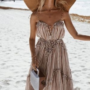 AVERY Striped Maxi